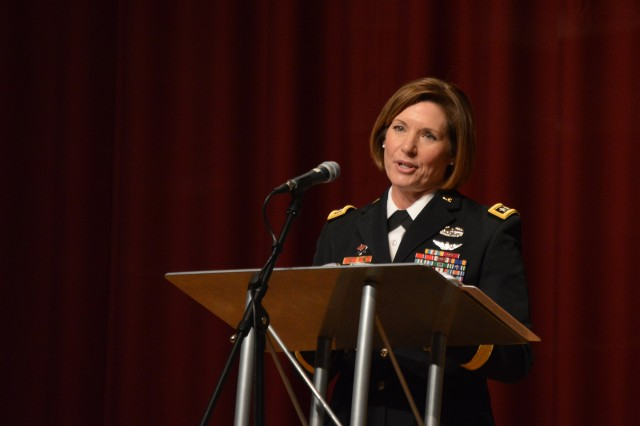 Lt. Gen. Laura Richardson, acting commanding general Army Forces Command, was the keynote  member of the Oklahoma City Women's Achievement Panel, hosted by the Oklahoma City West Army Recruiting Company March 8, 2019, at Southern Nazarene University.