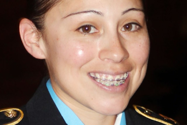 Drill Sergeant (Staff Sgt.) Miriam Reyes, 1st Battalion, 40th Field Artillery