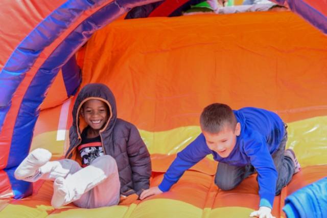 Children enjoy the festivities at the 23rd annual Community Fun Fair.
