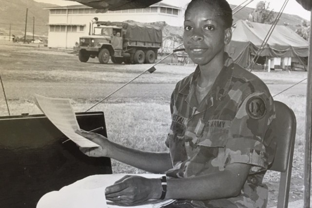 Then Army Specialist Norene Tunstall performs her duty at Schofield Barracks, HI, circa 1989. (Courtesy Photo)