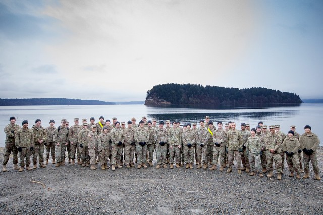 About 70 people joined in a memorial march at Solo Point in DuPont, Wash. on March 8 for behavioral health Soldiers killed in action in recent conflicts.