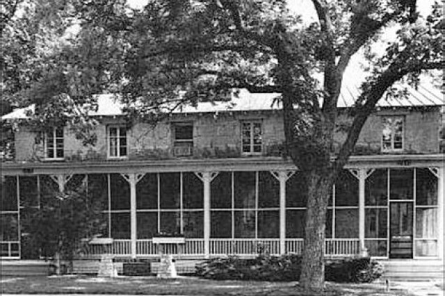 The Custer House, 24A Sheridan Ave., was originally setup as officer's quarters due to it's location across from Cavalry Parade Field.