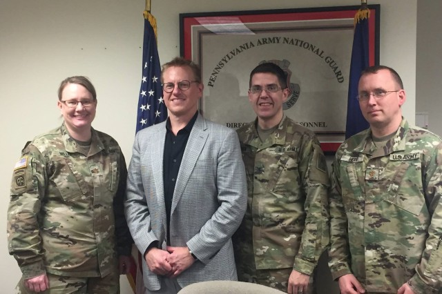 On Feb. 19, 2019, Mr. Russell Broom, Vice President of Development for Oracle, visited Integrated Personnel and Pay System - Army (IPPS-A) testing at Fort Indiantown Gap, Pa. Mr. Broom previously worked extensively with the Human Capital Management (HCM) PeopleSoft module which is the transaction module in IPPS-A.