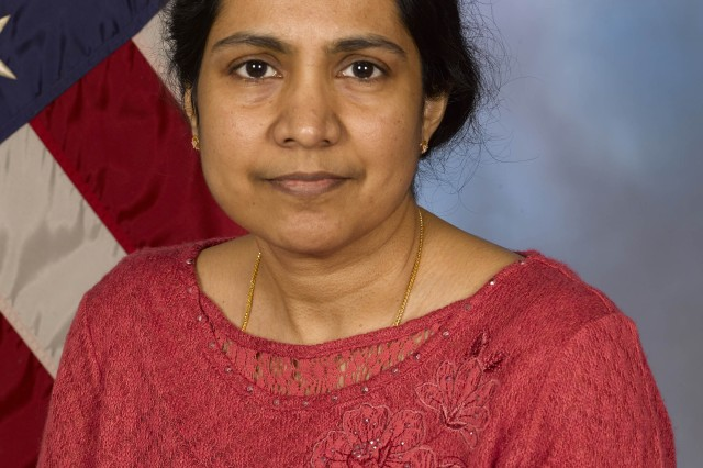 Geetha V. Chary, Operations Research Analyst, Systems Analysis Activity, AMC Headquarters, is an AMC Employee of the Quarter for providing her exceptional structural engineering analysis and outstanding support to the Future Vertical Lift Reliability Analysis that provided Department of the Army with the key modeling results to contrast the various Future Vertical Lift alternatives.