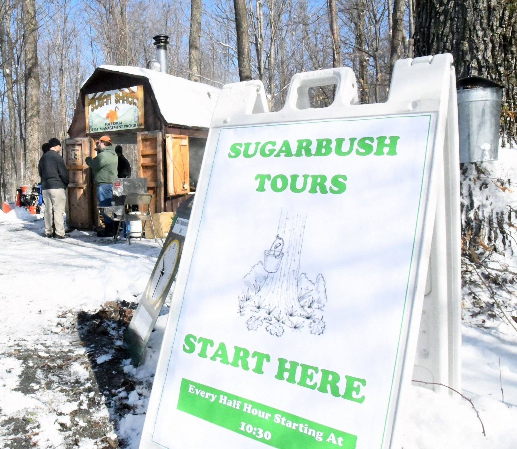 Fort Drum community members discover tree-to-table process
