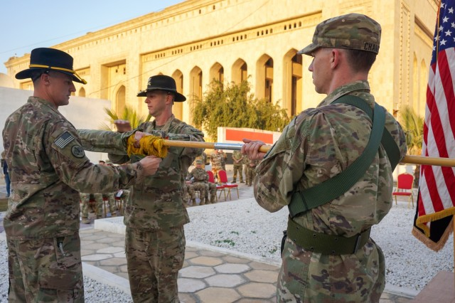 Rifles and Bastogne transfer of authority in Iraq