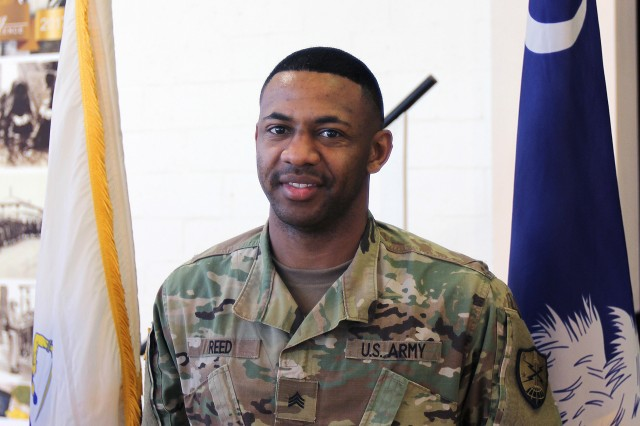 Sgt. Antwan Reed is a unit supply specialist assigned to the 125th Cyber Protection Battalion, South Carolina Army National Guard.
