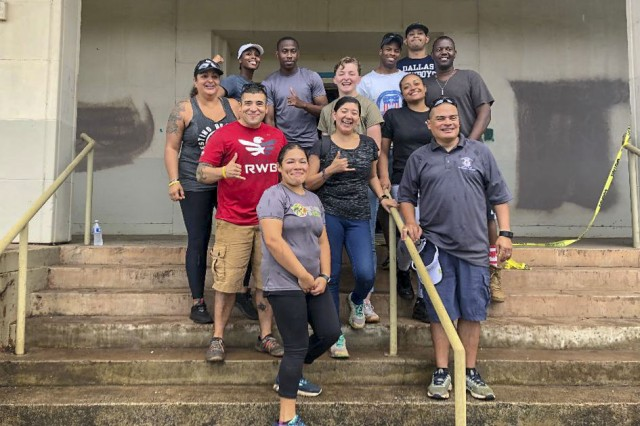 Members of the Sergeant Audie Murphy Club-Alakai Chapter and the Junior Enlisted Council from the Troop Command at Tripler Army Medical Center volunteered at Pearl Haven Sanctuary, a safe haven for underage females rescued from sexual exploitation, located on the island of Oahu, Hawaii, Mar. 23.