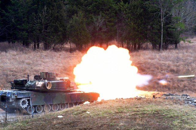 Active and reserve Marine Corps tankers from Fort Knox, Kentucky, conduct day and nighttime gunnery qualification at Wilcox Range Feb. 22. Among the many missions support by the Mission and Installation Contracting Command office at Fort Knox is support for ranges.