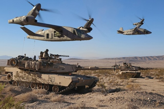 The Army awarded four contracts to industry to build technology demonstrators that will enable it to try out new capabilities in vertical lift. Bell Helicopter's V-280 Valor demonstrator has logged more than 80 flight hours to date. (Photo by Bell Helicopter)