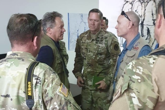 U.S. Army Maj. Gen. James D. Craig, Combined Joint Task Force -- Horn of Africa commanding general, arrived in the Republic of Mozambique March 25, 2019, to get a first-hand look at the devastation Cyclone Idai caused throughout the region earlier this month.