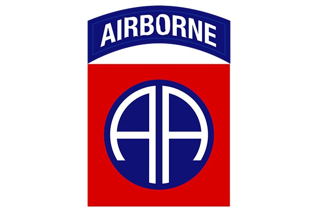 82nd Airborne shoulder sleeve insignia.
