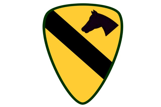 1st Cavalry shoulder sleeve insignia.