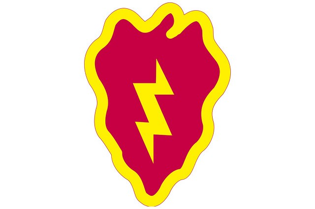 25th Infantry Division shoulder sleeve insignia.