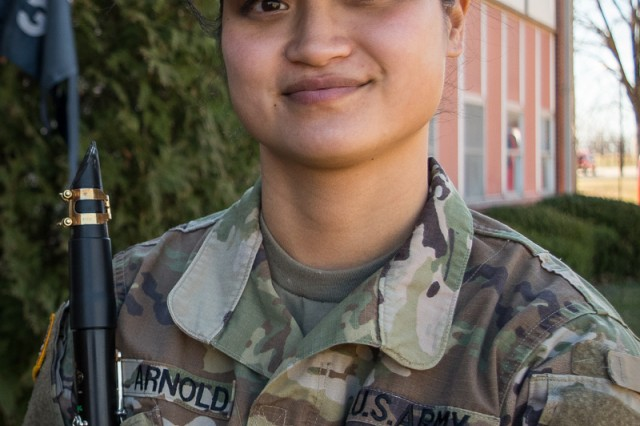 Spc. Jennifer Arnold, clarinet, 399th Army Band, Fort Leonard Wood, Mo.