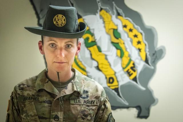 Staff Sgt. Brenda Bramel, drill sergeant, Company F, 1st Battalion, 48th Infantry regiment, Fort Leonard Wood, Mo.