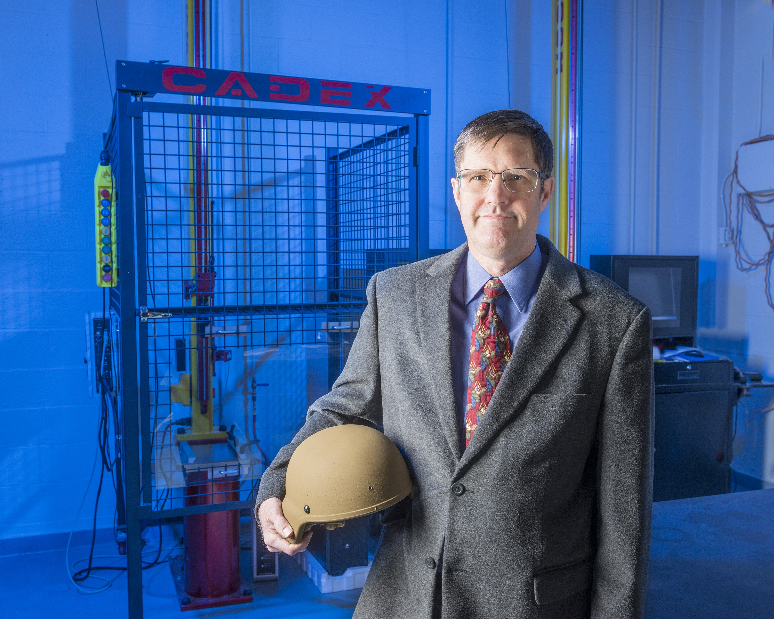 Engineer dedicates career to improving helmets for the