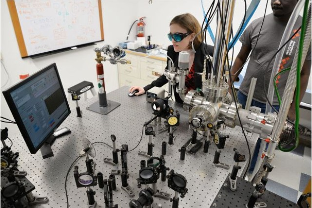Katharine Moore Tibbetts, Ph.D., an assistant professor at Virginia Commonwealth University, received two grants from the Army to study the initial steps of decomposition in energetic molecules that leads to explosions.
