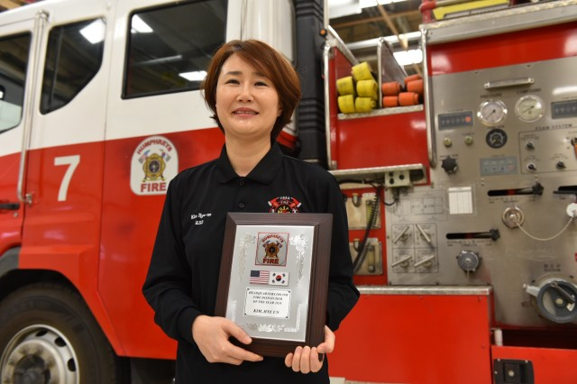 Although firefighters and military police often get acknowledged for their service on the emergency site, Kim, who plays a vital role behind the scenes, is being recognized as the Army's 2018 Fire and Emergency Services Dispatcher of the Year. (U.S. Army photo by Sameria Zavala)