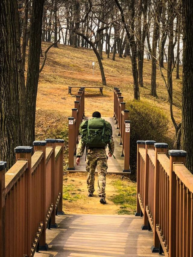 Bulldog Brigade service members walk to remember