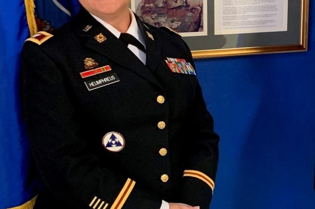 Col. Nicole Heumphreus, operations chief, U.S. Army Security Assistance Command, became the first woman to be inducted into the University of Kentucky's ROTC Wall of Honor.