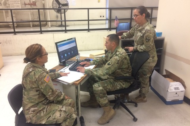 Soldiers from the U.S. Army Reserve-Puerto Rico and the Puerto Rico National Guard had the opportunity to recently work together again, at the Fort Bliss mobilization station, as the National Guard personnel arrived there, during their mobilization for upcoming missions.