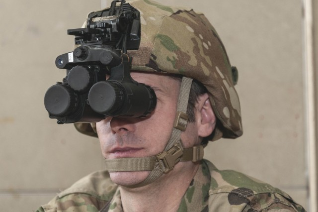 The Army's new night vision goggles, the Enhanced Night Vision Goggle Binocular, features a dual-tube structure and uses thermal imaging.