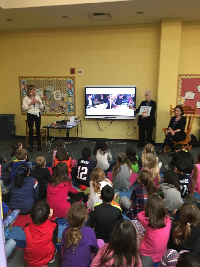Month of the Military Child: Authors read to Humphreys students