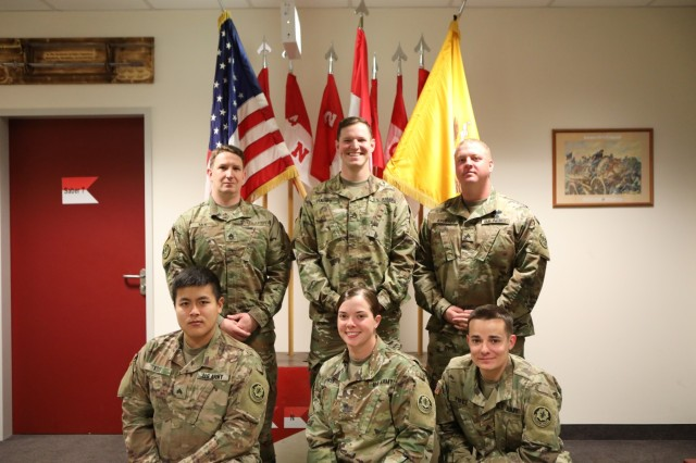 Volunteer representatives for the No DUI Saber Program, 4th Squadron, 2d Cavalry Regiment, come together before the start of a 4-day weekend in Vilseck, Germany, April 4, 2019. Should they receive a call, one volunteer will be dispatched to pick up a Soldier, and another volunteer will drive the Soldier's vehicle back home. (U.S. Army photo by Sgt. Timothy Hamlin)