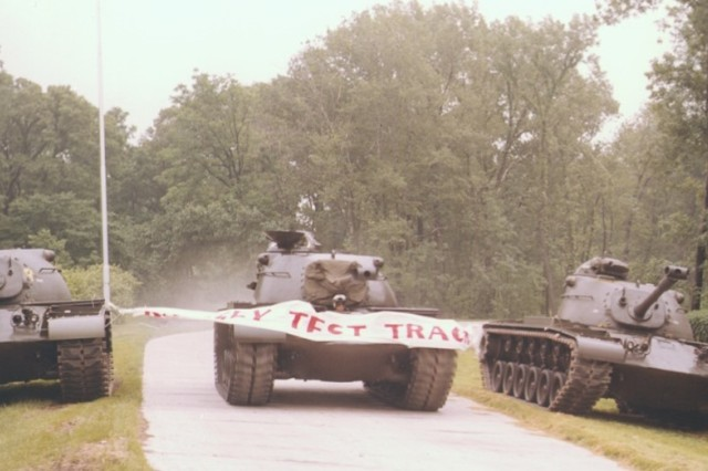 A dedicated test track designed to test tanks and other tracked vehicles was established at RIA during World War II.