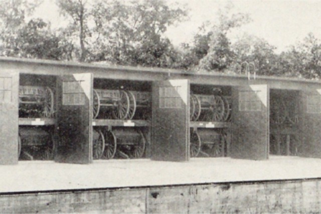 The storage area was used to store many items returned from Europe after World War I.
