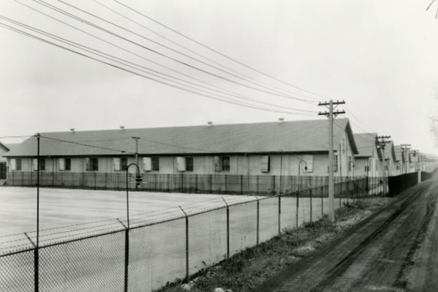 Many of the storage buildings constructed during and after World War I have since been torn down.