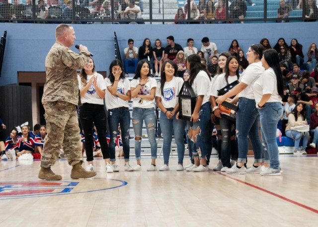 WBAMC Soldier thanks local high school which inspired during deployment