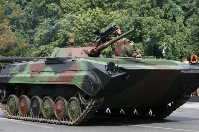 Originally developed for the Soviet Union's army, the BMP-1 remains in service in the armed forces of several different nations.
