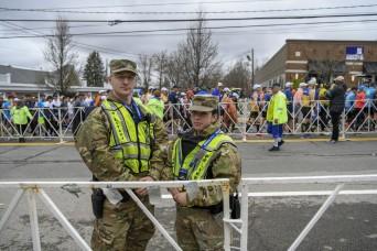 Guard members support 123rd Boston Marathon