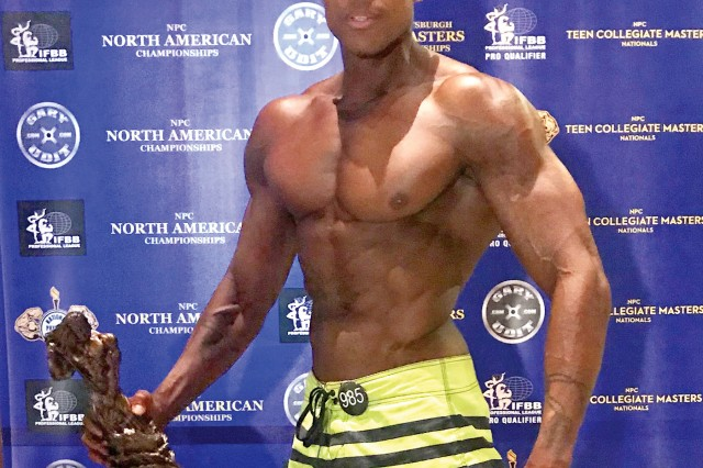 Sgt. 1st Class Robert Clark, 4th Attack Reconnaissance Squadron, 6th Cavalry Regiment, won first place at the 2018 NPC North American Championships in Pittsburgh, earning his International Federation of Bodybuilding and Fitness professional card in August.