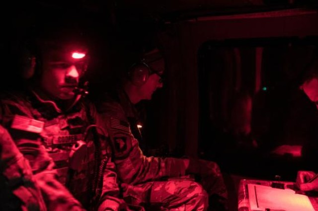 U.S. Army Brig. Gen. J.B. Vowell and Col. Tom Burke observe and oversee training at Lightning Strike 19