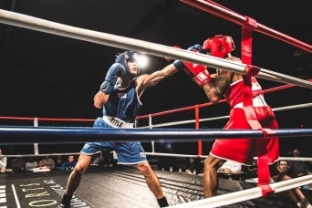 Soldier fights to become best Army boxer