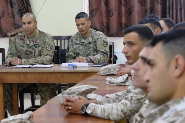 The United States Army and Jordan Armed Forces held a noncommissioned officer subject matter expert exchange in Amman, Jordan, April 6-10, 2019. Topics included the enlisted force structure, promotions, professional military education, performance feedback, evaluation processes, and career development for both armies. The U.S. and Jordan remain committed to a strong bilateral relationship built on common interests and mutual respect.