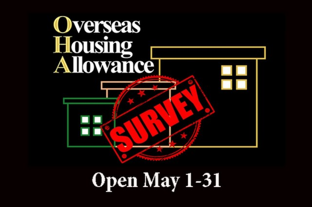 Graphic to accompany overseas housing allowance survey for Italy and Cananda military members.