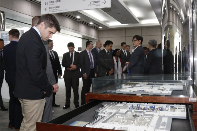 Students from Regional Leader Development Program - Dense Urban Studies 19-02 received a brief on the size and complexity of Coex, Asia's largest underground convention center and shopping mall, April 11 in Seoul. Coex has hundreds of thousands of visitors every day. (U.S. Army photo by Sgt. 1st Class Sean Everette, 20th Public Affairs Detachment)