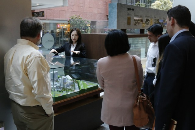 Regional Leader Development Program - Dense Urban Studies 19-02 students listen during a guided tour of Severance Hospital April 12 in Seoul. Severance Hospital is the largest, most advanced hospital in the Republic of Korea, and would be one of the primary response organizations during a disaster. (U.S. Army photo by Sgt. 1st Class Sean Everette, 20th Public Affairs Detachment)