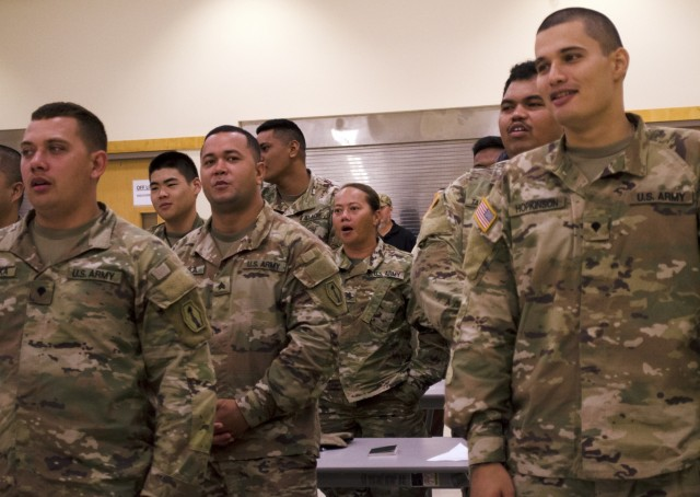 Soldiers celebrate the Army Reserve's 111th birthday in American Samoa