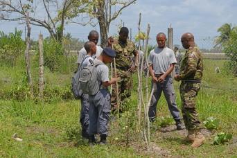 La. Guard trains Belize Defence Force YCP Cadre