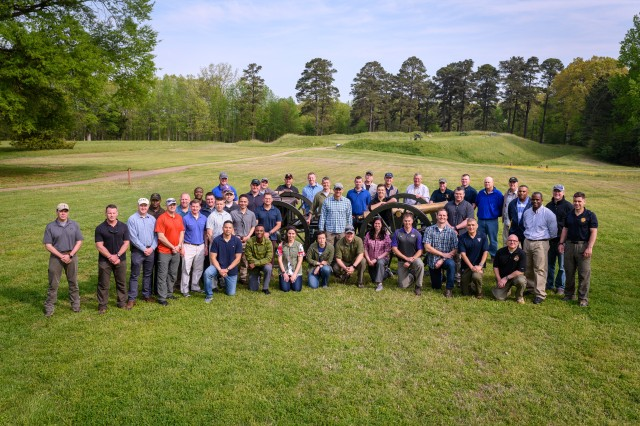 Soldiers with Army Training and Doctrine Command conducted a staff ride at Petersburg National Battlefield, Petersburg, Virginia, on April 18, 2019. The Soldiers discussed several aspects of the battle, on the sites where the action concerned occurred, and related the events to the Army philosophy of Mission Command.  (U.S. Army photo by Capt. Jonathon M. Lewis / Released)
