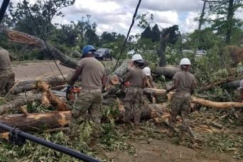 National Guard members respond to tornado