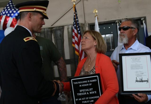 Post Office renamed after 593rd ESC fallen Soldier