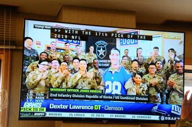 2ID Soldier announces NFL draft pick