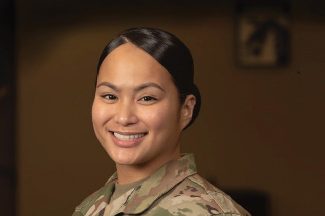 Portrait of Staff Sgt. Nhadenel Fletcher, a basic leader course instructor, XVIII Airborne Corps and Fort Bragg Noncommissioned Officer Academy, taken Jan. 23, 2019. (Photo Illustration by Staff Sgt. Courtney Smith / 22nd Mobile Public Affairs Detachment)
