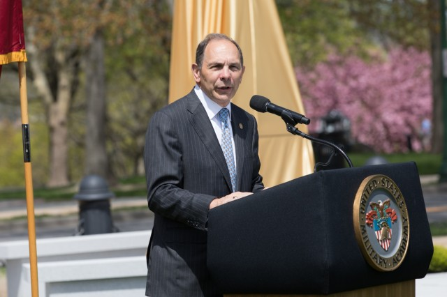 Grant Statue Dedicatio Ceremony on the West Point Plain, April 25, 2019.  (U.S. Army photo by Michelle Eberhart)